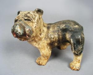English bulldog - antique cast iron doorstops