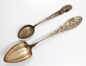 High Rock Spring sterling silver souvenir spoons - Saratoga Springs, NY