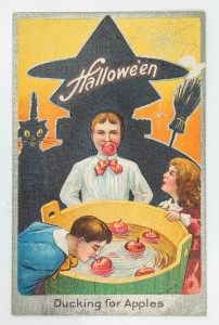 Victorian Halloween Postcards: Ducking for Apples