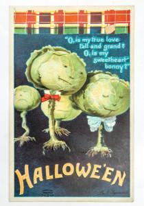 Victorian Halloween Cards: Prophetic Cabbages