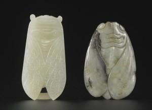 Antique Chinese Jade Cicada Han Ornament