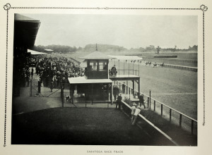 The Saratoga Racetrack - Early 20th Century Souvenir Photo