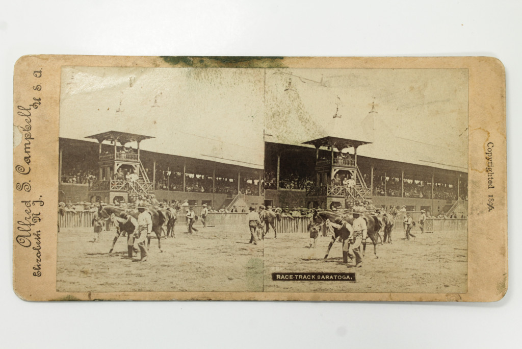Saratoga Racecourse - 19th Century Stereoview Card