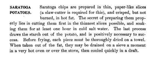 Saratoga Chips recipe - Saratoga Springs NY