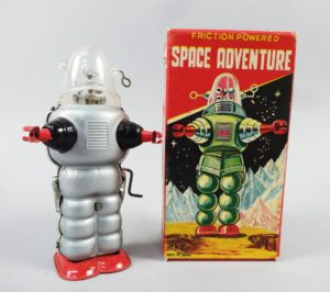 Vintage 1950s Tin Friction Japanese Toy Sci-Fi Space Adventure Robot