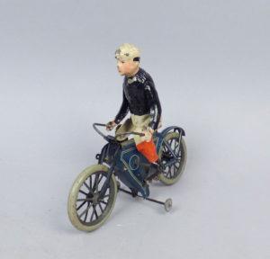 Rare Antique c1900 German Lehmann Tin Windup Toy Bicycle Motorcycle