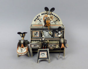 Vintage 1930s Marx Merrymakers Wind-up Mouse Band Tin Lithograph Toy