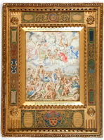 "Authentic 14th Century Renaissance Miniature Oil Painting by Giulio Clovio ""The Last Judgment"": exciting finds include rare artwork & estate jewelry"