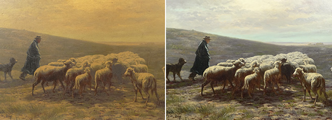 professional conservation, oil painting cleaning & restoration