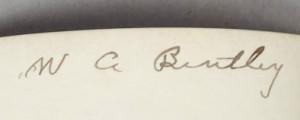 Signature of Wilson A. Bentley