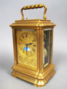 c1880 Henry Capt Bronze Dore Carriage Clock