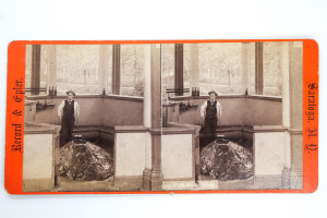 Stereoview of the High Rock Spring in Saratoga Springs