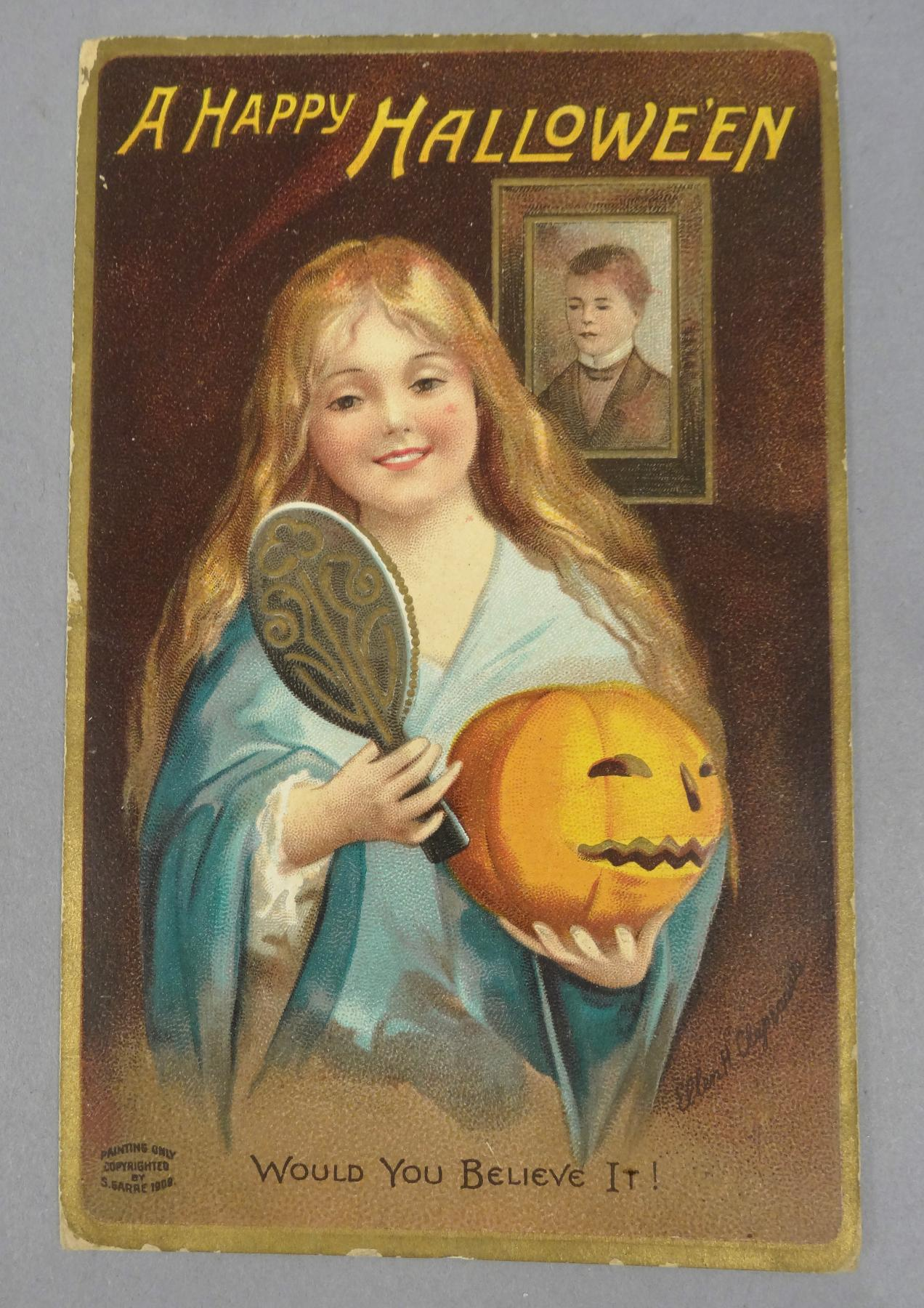 victorian halloween postcards - mark lawson antiques