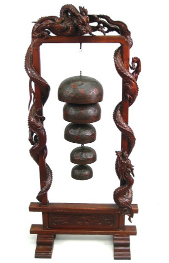 Buy Sell Chinese Antiques Near Me Carved Wood Dragon Bell