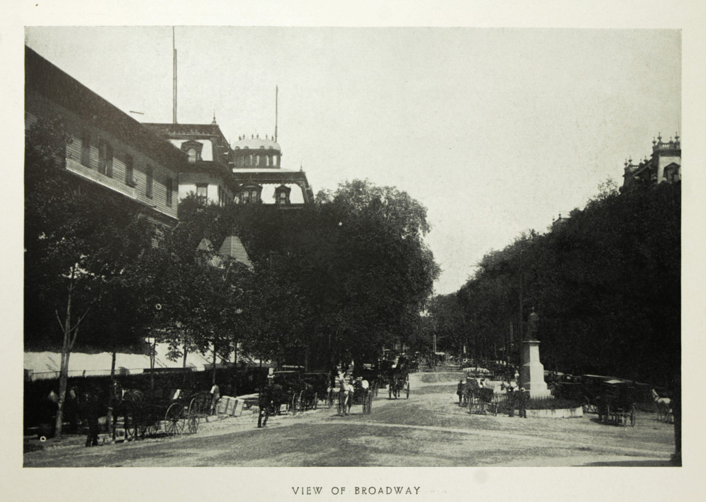 View of Broadway with the Grand Uniobn Hotel & United States Hotel - Early 20th Century Souvenir Photo