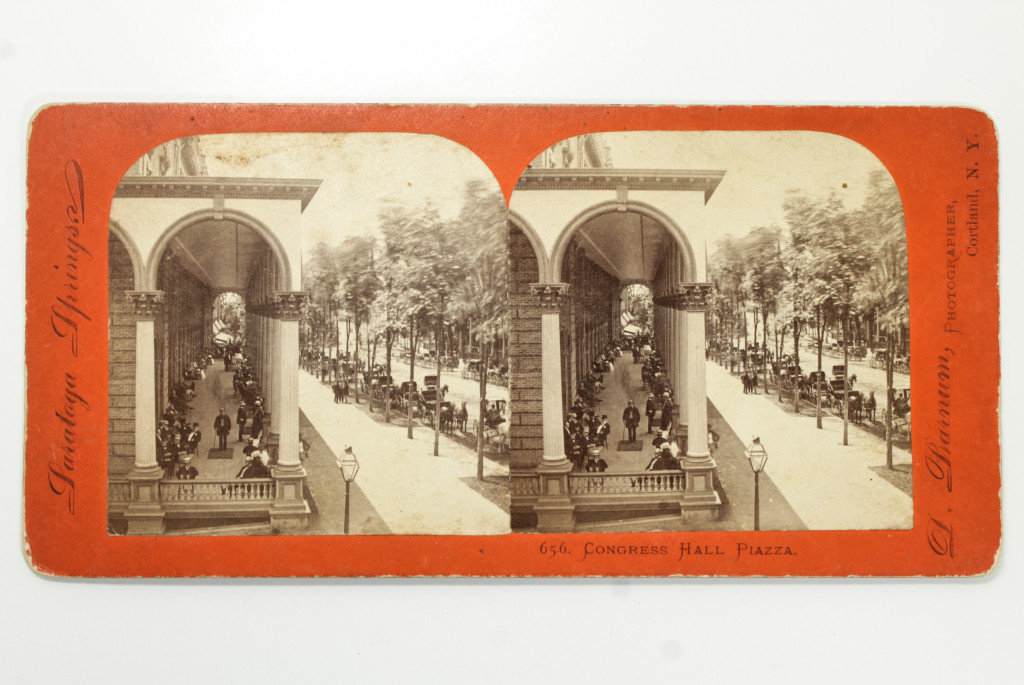 Saratoga Springs Congress Hall Hotel - 19th Century Stereoview Card