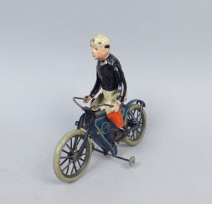 Rare Antique c1900 German Lehmann Tin Windup Toy Bicycle Motorcycle