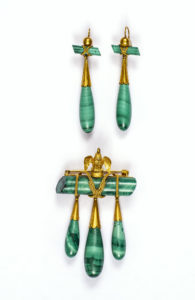 Unidentified maker 19th century Malachite, Gold Albany Institute of History & Art, gift of J. Townsend Lansin