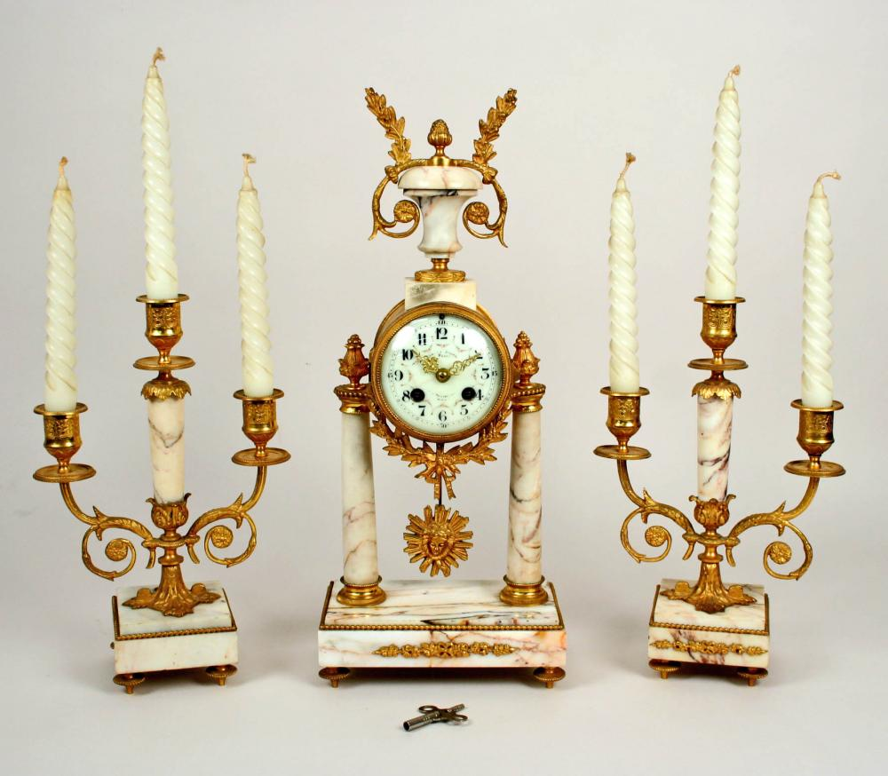 Clock And Garniture
