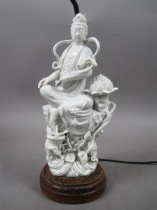 Antique Oriental Poreclain Lamp